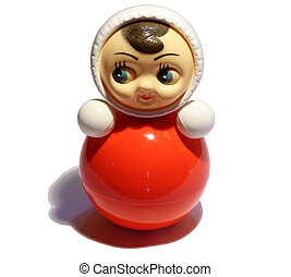 roly-poly doll toy illustration isolated