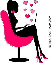 románc, online