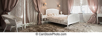 romántico, belleza, dormitorio