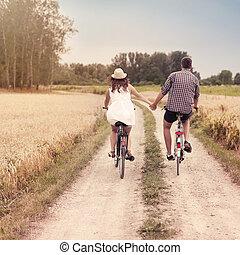 romántico, ciclismo