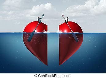 romántico, conexión