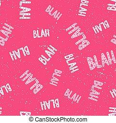 romántico, dibujado, seamless, rojo, vector, words., retro, blanco, caligrafía, caricatura, impresión, design., mano, illustration., patrón, letras, textura, blah