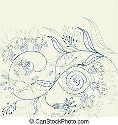 romántico, floral, plano de fondo