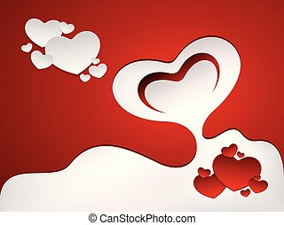 romántico, tarjeta de felicitación, diseño