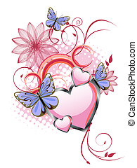 romántico, tarjeta de felicitación