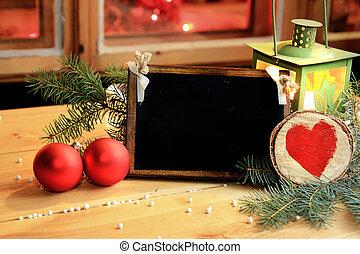 romántico, y, navidad de la familia