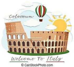 rom, colosseum, italien, gränsmärke