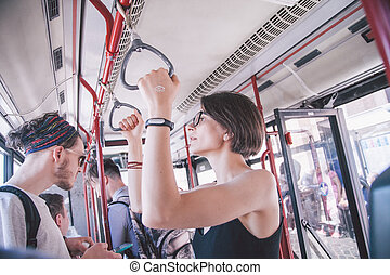 rom, friends, öffentlicher personennahverkehr