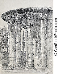 rom, italien, tempel, vesta