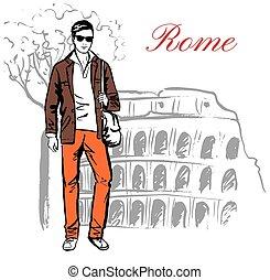 rom, man