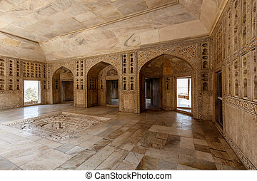 Rom of Shah Jahan - The impressive Red Fort in Agra a world ...