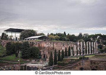 rom, roma, venus, colosseum, ruinen, tempel