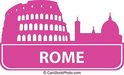 rom, skissera