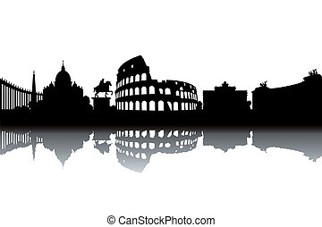 rom, skyline