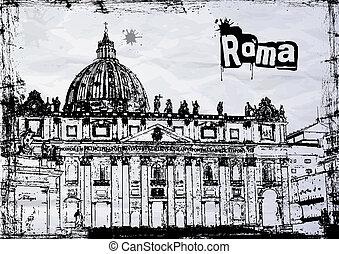 rom, st.  peter's, italien, domkyrka
