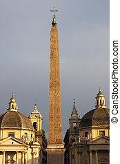 roma, del, plaza, popolo
