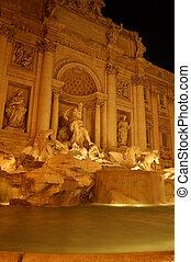 roma, fuente, trevi