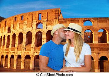 roma, itália, romanticos, férias