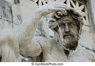 roma, italia, estatua, museo de capitoline