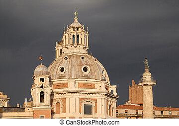 roma, nome, traiano), foro, nombre, (chiesa, más, italia,...