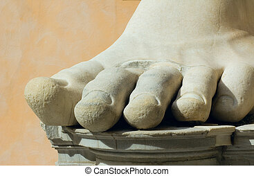 roma, piedra, italia, pie