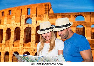 roma, romanticos, férias