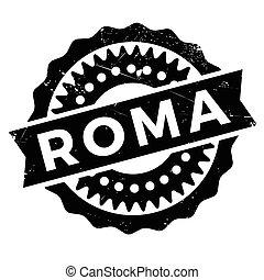 Roma stamp rubber grunge - Roma stamp. Grunge design with...