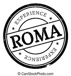 Roma stamp rubber grunge