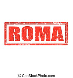 Roma-stamp - Grunge rubber stamp with word Roma,vector...