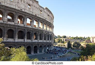 roma, turisti, colosseo
