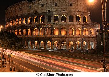 roma, vicino, notte