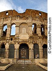 roma, vista, italia, coloseum