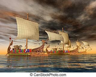 romain ancien, navires guerre