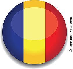 romain button flag