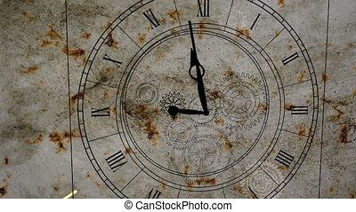 """romain, horloge, gears"""", """"a, nombres, dessins, roue dentée"""