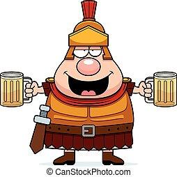 romain, ivre, centurion, dessin animé