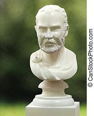romain, marbre, buste