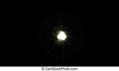 romain, rayons, chiffres, lumière