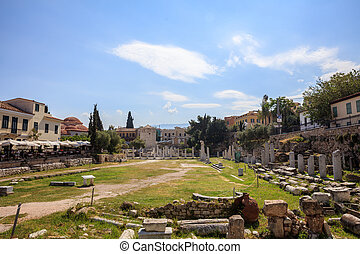 Roman Agora of Athens, Greece - View of Roman Agora of...
