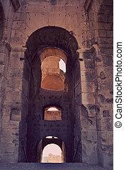 Roman amphitheater - El Jem - Roman amphitheater in the city...