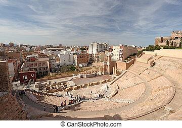 Roman amphitheater in Cartagena, Region Murcia, Spain