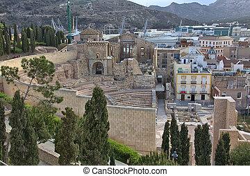 Roman amphitheater of Cartagena in Spain