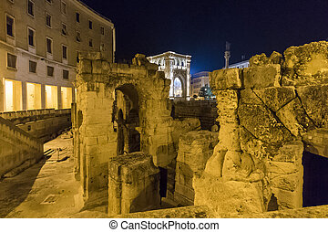 Roman amphitheater of Lecce, Italy