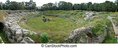 Roman amphitheatre at Syracuse