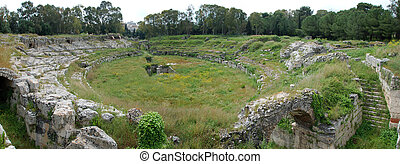 Roman amphitheatre at Syracuse