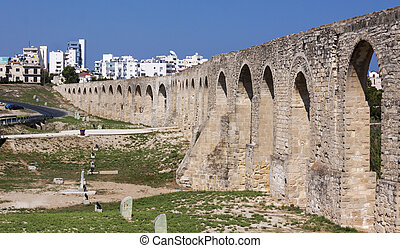 Roman Aquaduct in Larnaca, Cyprus - An ancient aquaduct...
