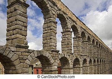 Roman Aquaduct in Segovia, Spain - The famous Roman Aquaduct...