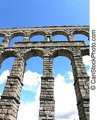 Roman Aquaduct - Roman aquaduct, Segovia, Spain