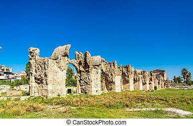 Roman Aqueduct in Tyre, Lebanon