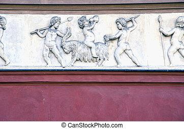 roman architectural retro vintage wall background